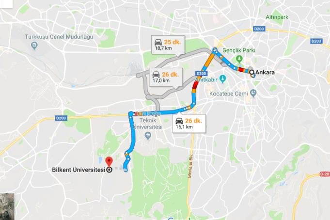 İhsan Doğramacı Bilkent Üniversitesi Nerede, Nasıl Gidilir?