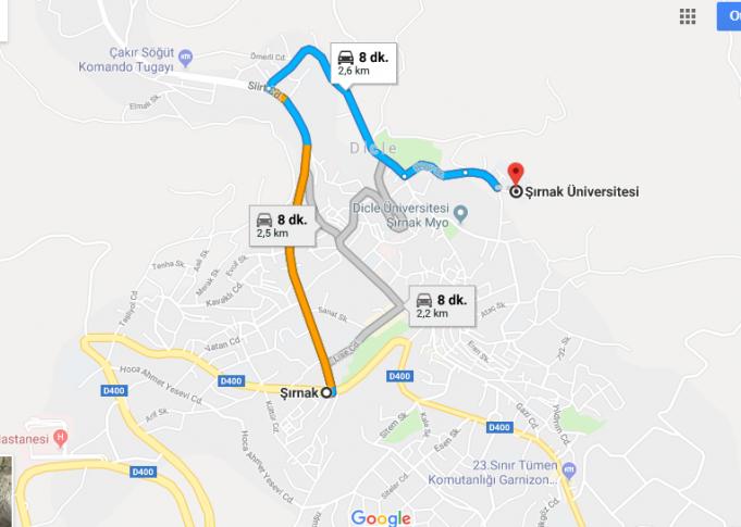 Şırnak Üniversitesi Nerede, Nasıl Gidilir?