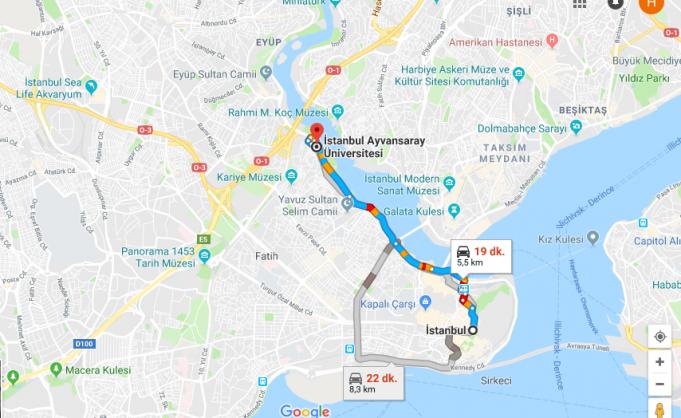 Ayvansaray Üniversitesi Nerede, Nasıl Gidilir?