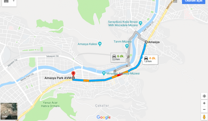 Amasya Park Avm Nerede, Nasıl Gidilir?