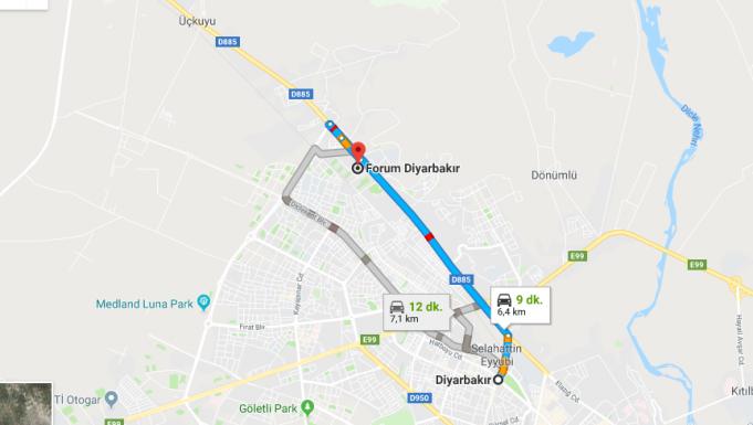 Forum Diyarbakır Avm Nerede, Nasıl Gidilir?