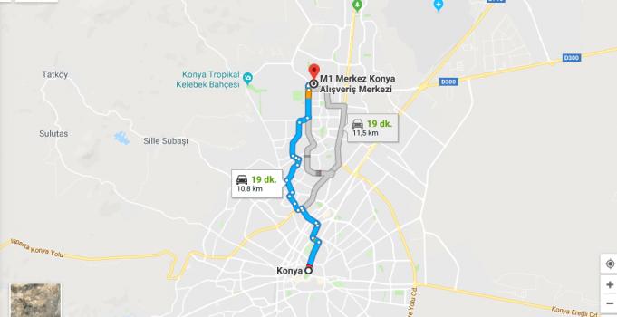 M1 Konya Avm Nerede, Nasıl Gidilir?