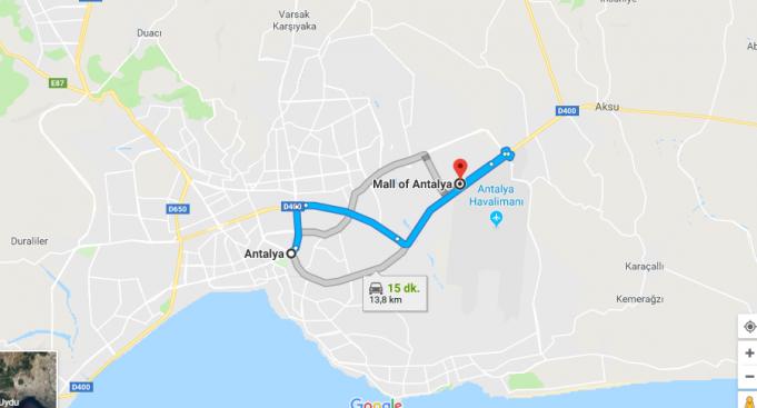 Mall of Antalya Nerede, Nasıl Gidilir?