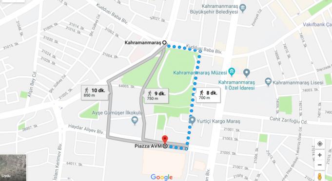 Maraş Piazza Avm Nerede, Nasıl Gidilir?
