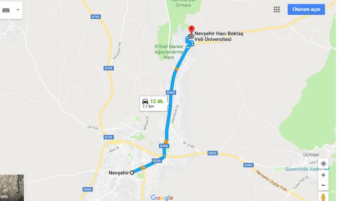 Nevşehir Hacı Bektaş Veli Üniversitesi Nerede, Nasıl Gidilir?