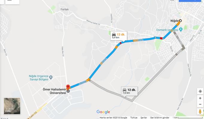 Niğde Ömer Halisdemir Üniversitesi Nerede, Nasıl Gidilir?