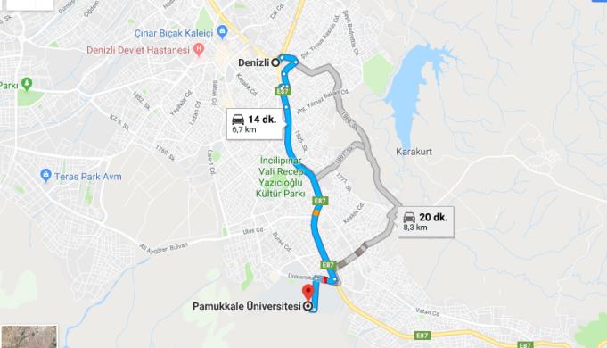 Pamukkale Üniversitesi Nerede, Nasıl Gidilir?