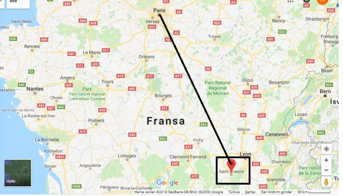 Saint-Étienne Nerede, Hangi Ülkede?