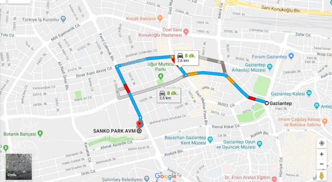 Sanko Park Avm Nerede, Nasıl Gidilir?