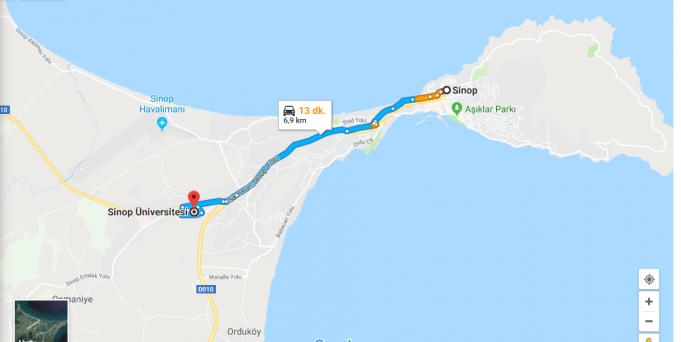 Sinop Üniversitesi Nerede, Nasıl Gidilir?