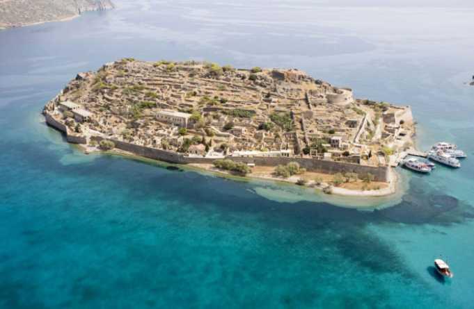 Spinalonga Adasi Yunanistan