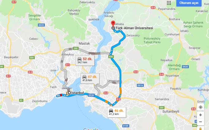 Türk-Alman Üniversitesi Nerede, Nasıl Gidilir