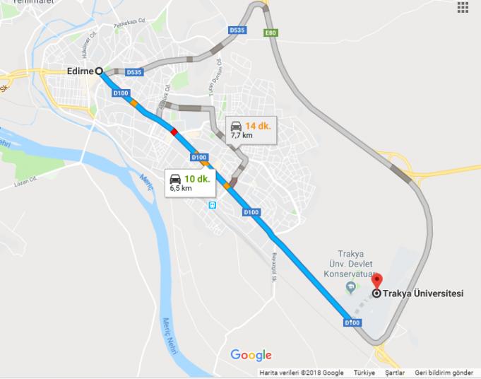 Trakya Üniversitesi Nerede, Nasıl Gidilir?