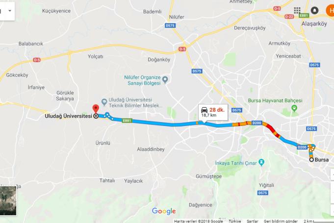 Uludağ Üniversitesi Nerede, Nasıl Gidilir?