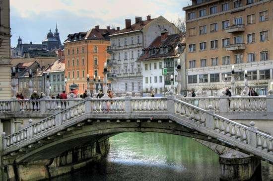 Üçlü Köprü (Tromostovje, Triple Bridge)