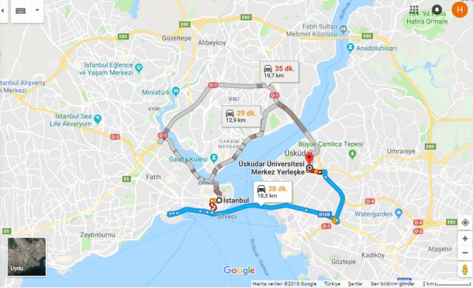 Üsküdar Üniversitesi Nerede, Nasıl Gidilir?