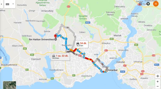 İbn Haldun Üniversitesi Nerede, Nasıl Gidilir?