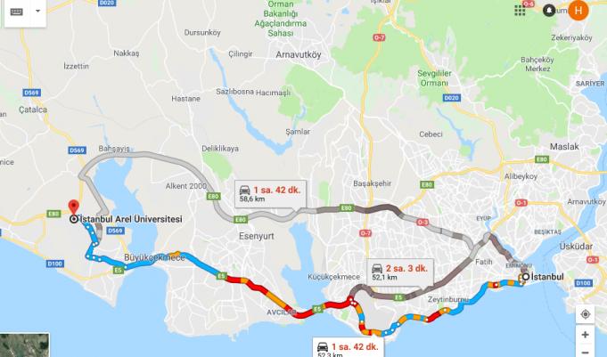 İstanbul Arel Üniversitesi Nerede, Nasıl Gidilir?