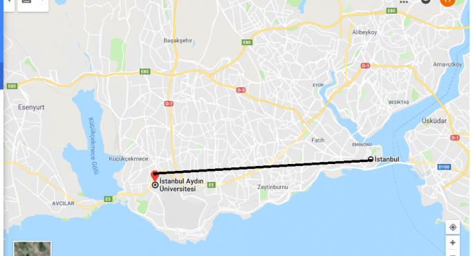İstanbul Aydın Üniversitesi Nerede, Nasıl Gidilir?