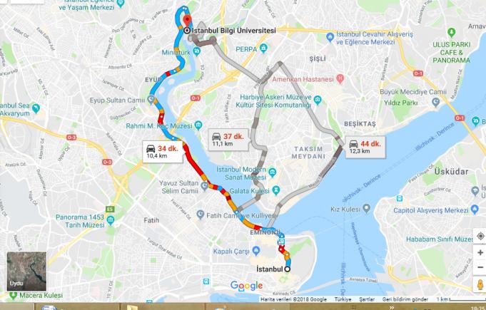 İstanbul Bilgi Üniversitesi Nerede, Nasıl Gidilir?
