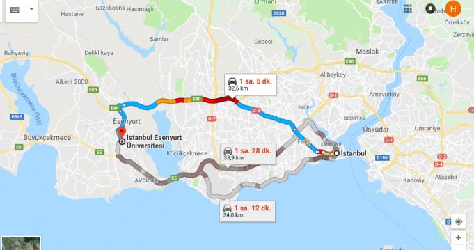 İstanbul Esenyurt Üniversitesi Nerede Nasıl Gidilir?