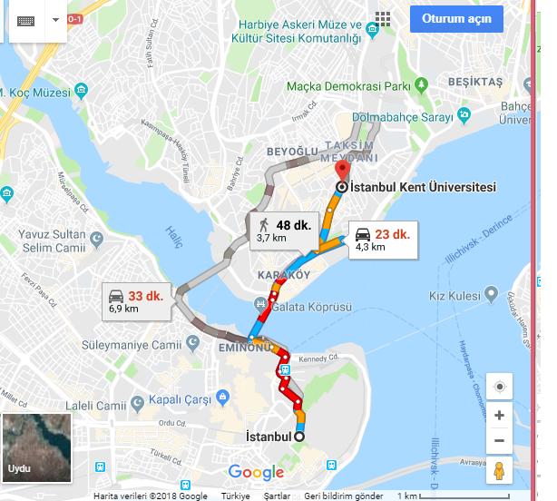 İstanbul Kent Üniversitesi Nerede, Nasıl Gidilir?