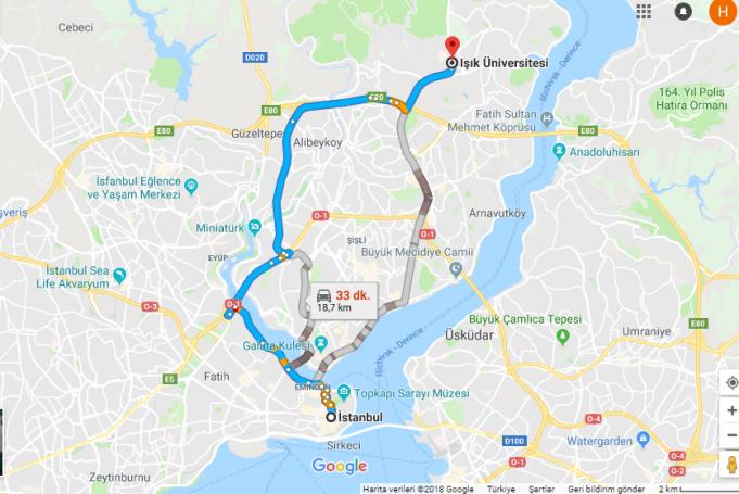 Işık Üniversitesi Nerede, Nasıl Gidilir?