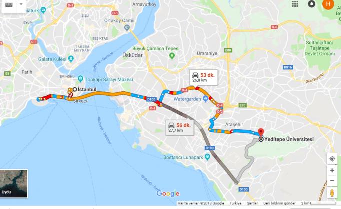 Yeditepe Üniversitesi Nerede, Nasıl Gidilir?