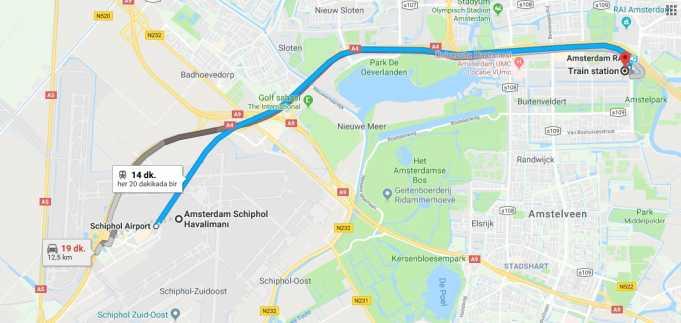 Schiphol Havalimanı (Airport) Nerede, Nasıl Gidilir