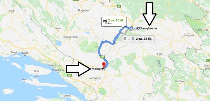 Saraybosna Mostar Arası Nasıl Gidilir, Otobüs ve Tren Seferleri