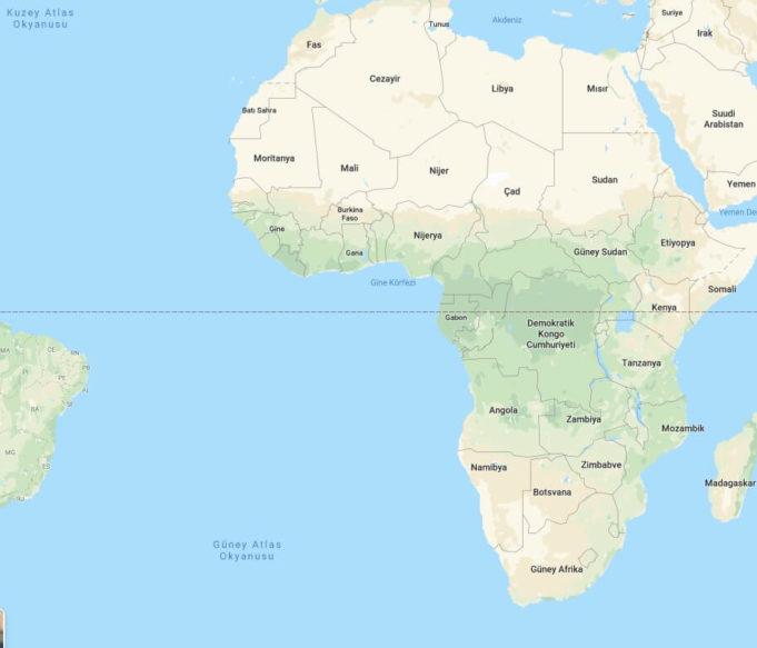 Afrika Nerede, Afrika Ülkeleri ve Haritası