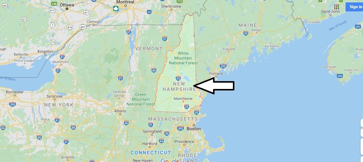 New Hampshire Nerede, Hangi Ülkede?