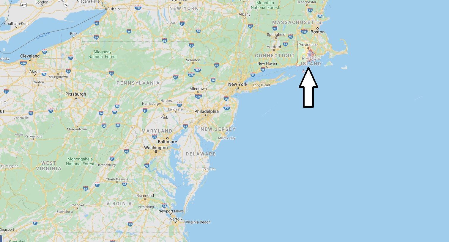 Rhode Island Nerede, Hangi Ülkede