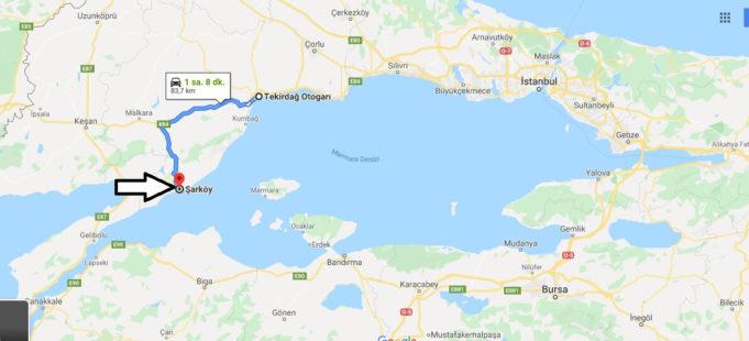Şarköy Nerede, Hangi Şehirde, Nerenin İlçesi