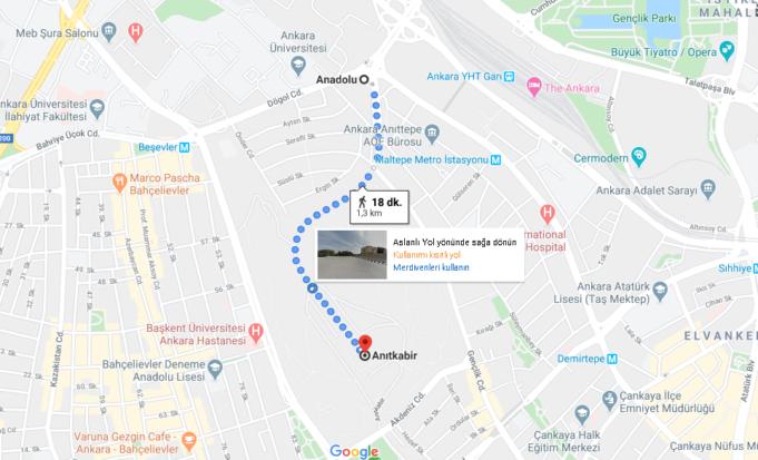 Aşti'den Anıtkabir'e Nasıl Gidilir? (Yürüyerek, Taksi ve Ankaray)