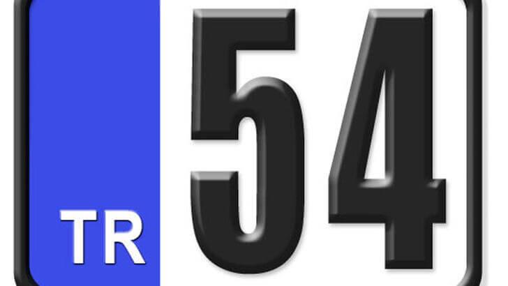 54 Nerenin Plakası