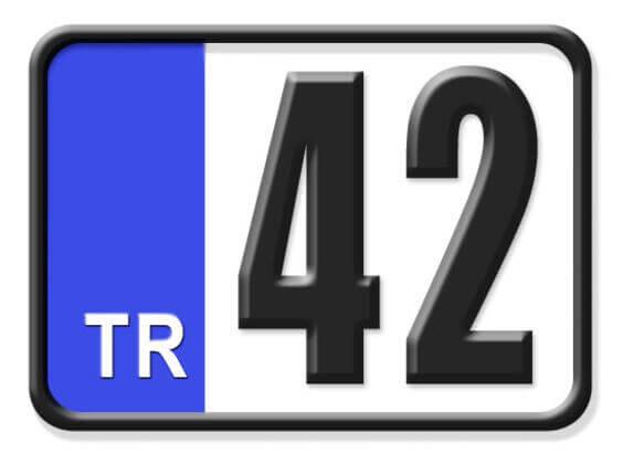 42 Nerenin Plakası