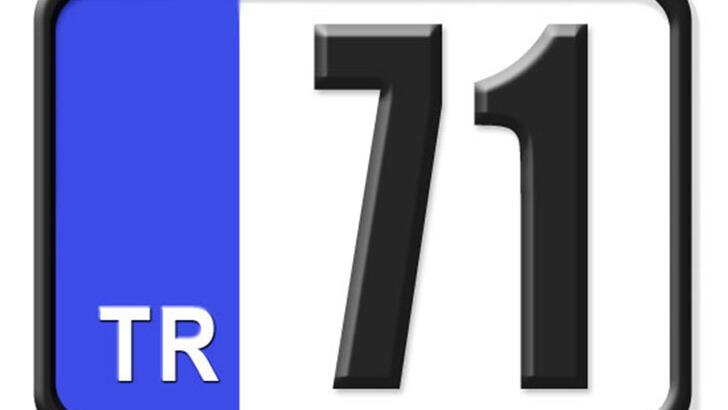 71 Nerenin Plakası, Kırıkkale Plakası