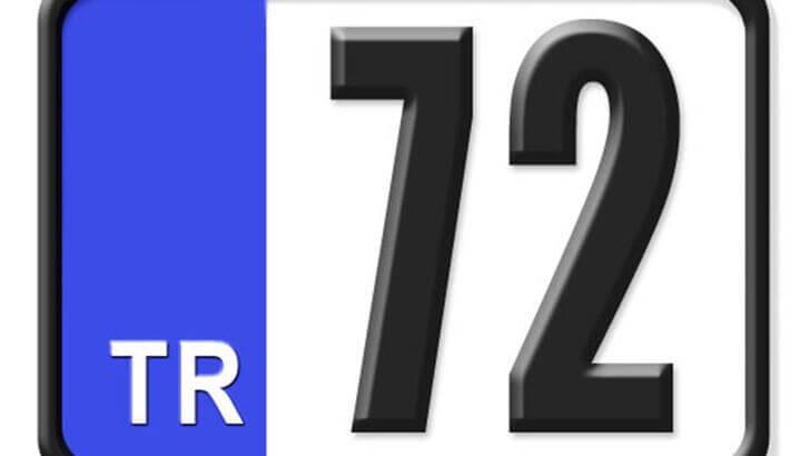 72 Nerenin Plakası, Batman Plakası