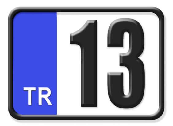 13 Nerenin Plakası, Bitlis Plakası, 13 Plaka Kodu