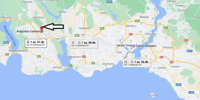 Boğazköy, Başakşehir Nerede Nereye Bağlı