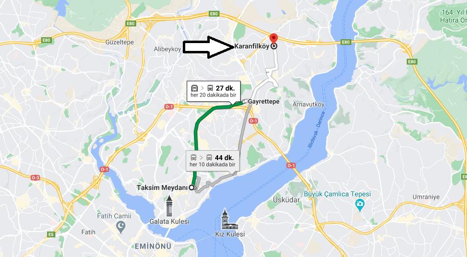 Karanfilköy Nerede, Nereye Bağlı