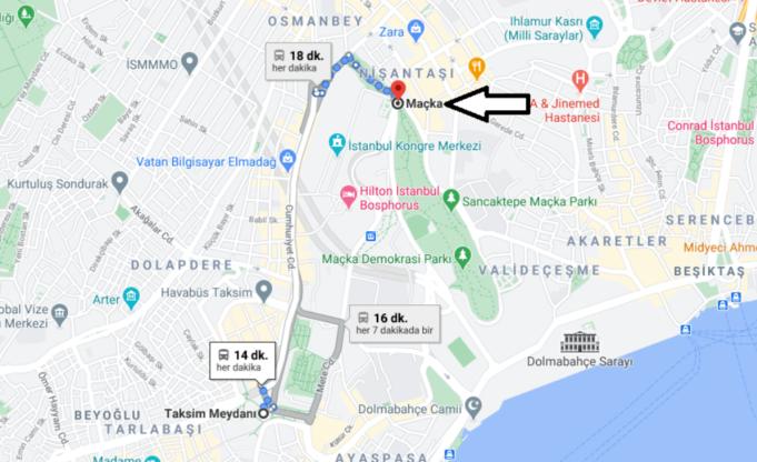 Maçka Beşiktaşa Nasıl Gidilir, Nereye Bağlı