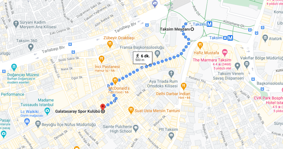 Galatasaray Semti Nerede, Hangi Şehirde, Nerenin İlçesi