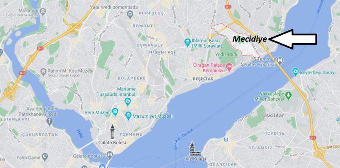 Mecidiye Beşiktaş Nerede, Nereye Bağlı