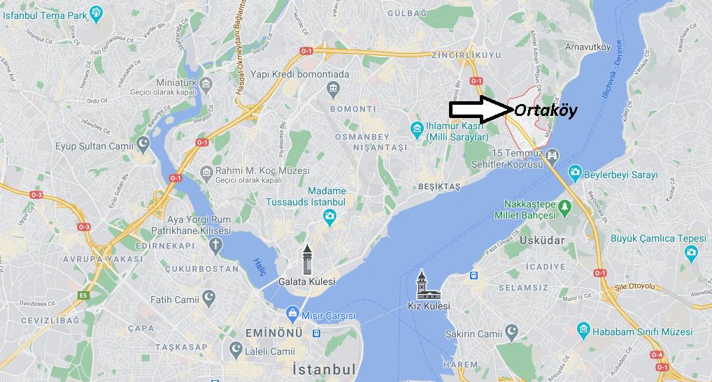 Ortaköy Nerede, Nereye Bağlı, Nasıl Gidilir