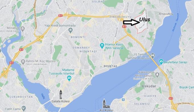 Ulus (Beşiktaş) Nerede, Nereye Bağlı, Nasıl Gidilir
