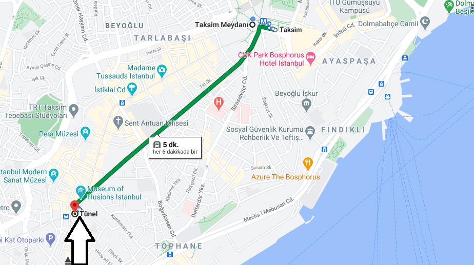 Tünel (Beyoğlu) Nerede, Nereye Bağlı, Nasıl Gidilir