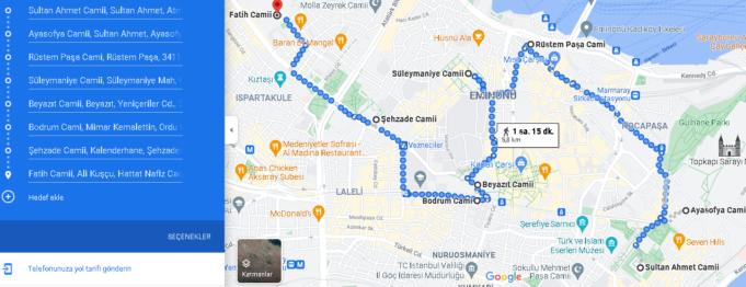Yürüyerek İstanbul Cami Turu (2 Saat ve 5.6 KM)